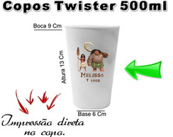 50 Copos Twister 500ml Moana
