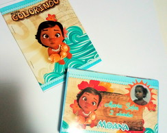 Kit Estojo Colorir Moana Baby