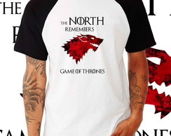 Camiseta Raglan GOT -The North Remembers