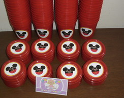 Copinhos 200ml Com tampa mickey