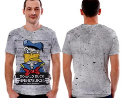 Camiseta camisa do Pato Donald Preso