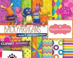 Kit Digital Scrapbook Backyardigans 1