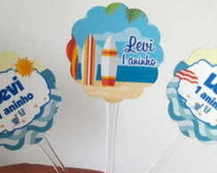 Toppers personalizados Praia