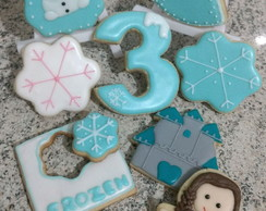 Biscoito decorado Tema Frozen