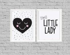Kit quadro infantil little lady