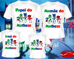 Kit Camiseta Aniversario PJ Masks c4