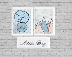 Kit quadro infantil little boy