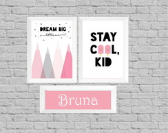Kit quadro infantil dream big cool