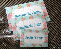 Kit 3 Bagtags - SHABBY CHIC
