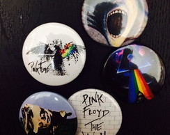 Kit 5 Bottons / Broches Pink Floyd