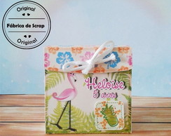 Caixinha Envelope Flamingo - Tropical