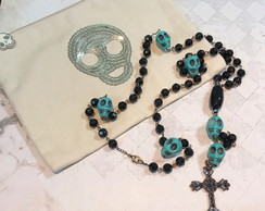 Rosary Necklace Black