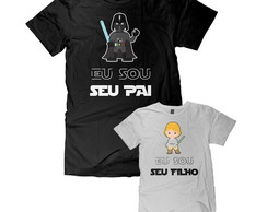 Kit 2 Camisetas Dia dos Pais Star Wars