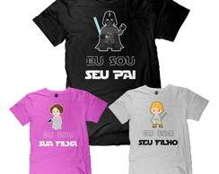 Kit 3 Camisetas Dia dos Pais Star Wars