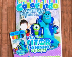 Kit Colorir Monstros SA - Universidade