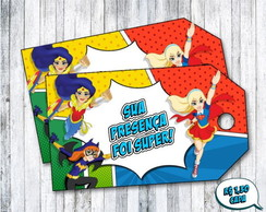 Tag de Agradecimento Super Hero Girls