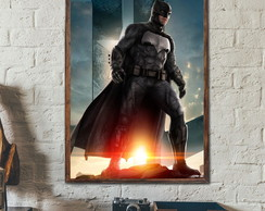 Quadro Decorativo Batman c Moldura A3