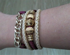 Mix Pulseiras Marsala Golden - Black Week Sofistics