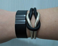 Mix Pulseira Black Golden