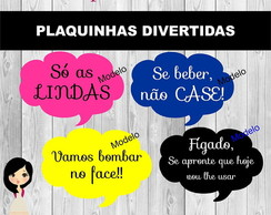 Plaquinhas Divertidas