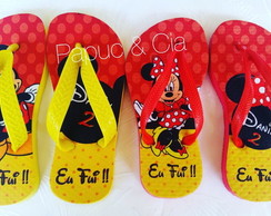 Chinelos personalizado Mickey e Minnie