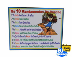 Placa MDF adesivada - Deveres do Rancho
