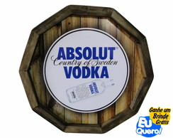Tampa de Barril - Absolut Vodka