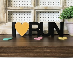 Palavra decorativa I Love RUN