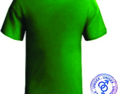 Kit Camiseta Verde Sem Estampa