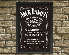 "Quadro /Placa Decorativa ""Jack Daniel's"""