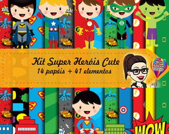 Kit Digital | Super Heróis Cute