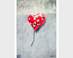 Poster P, M, G Broken Heart Balloon