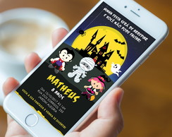 Convite Digital Halloween - WhatsApp