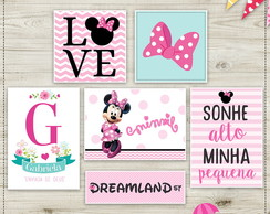 Arte Digital Quadros Minnie
