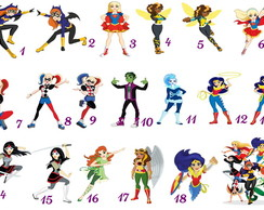 Apliques Super Hero Girls