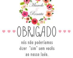 Mensagem De Agradecimento Para Padrinhos De Casamento Elo7