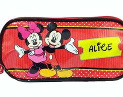 Estojo personalizado Minnie e Mickey