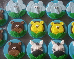 Topper Cupcake Tema Safari