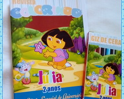 Kit Mini Revista Dora Aventureira