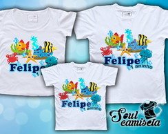 Kit Camisetas- Fundo d Mar- MODELO 01