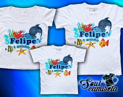 Kit Camisetas- Fundo d Mar- MODELO 02