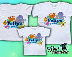 Kit Camisetas- Fundo d Mar- MODELO 03