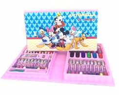 Estojo kit pintura Turma do Mickey