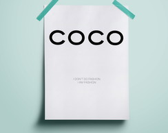 Poster Coco Chanel #1 | A3