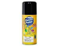 Tinta em Spray Decor Paint - 0520 Preto
