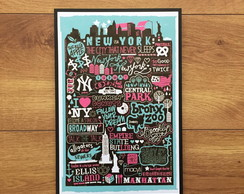 Placa Decorativa - NY - 20x30cm