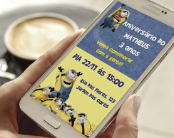 Convite Digital Minions - Whatsapp