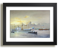 Quadro Navios Mar Arte Decorativo F50