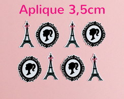 Aplique 3,5cm Barbie Paris