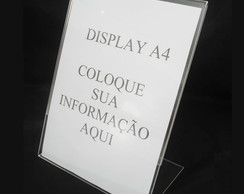 Display ou Porta Folha A4 Modelo L
